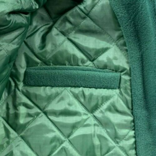 *Clearance Sale Men's Bottle Green Thick Fleece Padded Jacket Size L