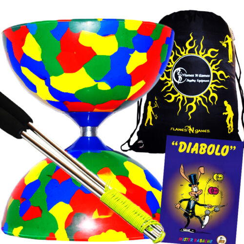 Jester Diabolo Metal Diabolo Hand Sticks Diablo Tricks Book +Travel BAG 4Col