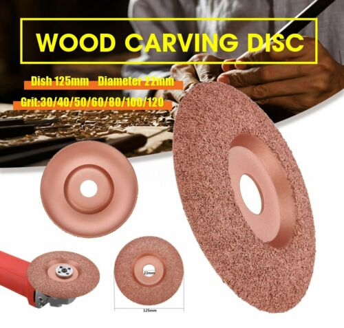 Tungsten Carbide Shaping Dish 125mm Diameter 22mm Bore Wood Shaping Disc