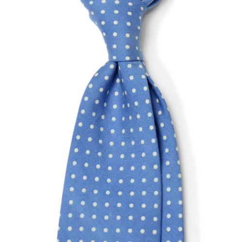 Difou Dot Printed Cotton Sfoderato Untipped Unlined Creator Tie //2Color