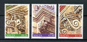 Malta 2016 MNH Balcony Corbels 3v Set Architecture Stamps
