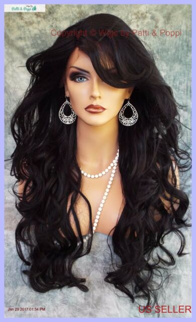 LACE FRONT LACE PIN W/PART CURLY LAYERED #1B GORGEOUS SEXY NEW  US SELLER 1141