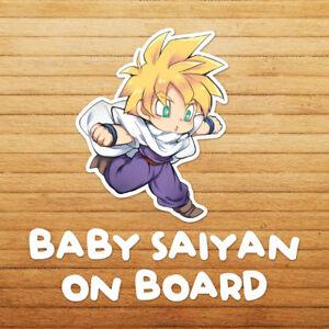 Baby-Saiyan-on-Board-Chibi-Gohan-Dragon-Z-Die-Cut-Car-Window-Decal-Sticker