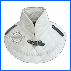 Cotton Armour Padding Collar Medieval Garment White Padded Collar Armour