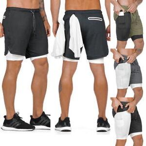 Homme-Sports-Training-Bodybuilding-Ete-Short-Entrainement-Fitness-Gym-pantalon