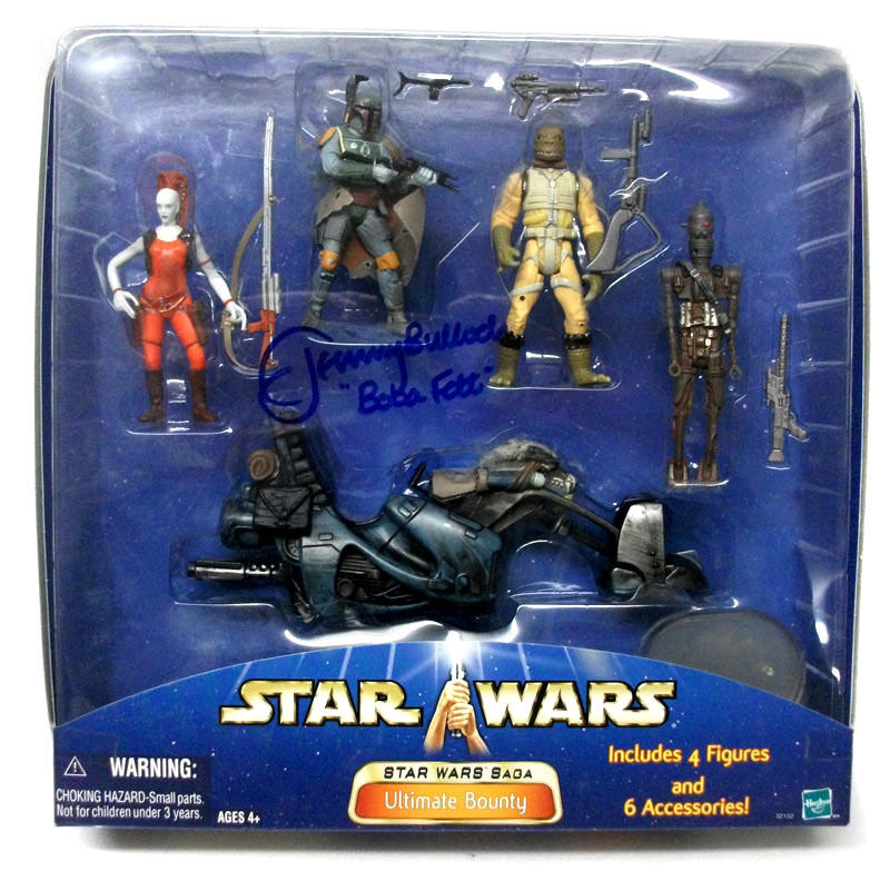 STAR WARS ULTIMATE BOUNTY figure Set w Jeremy Bulloch Boba Fett Signed box