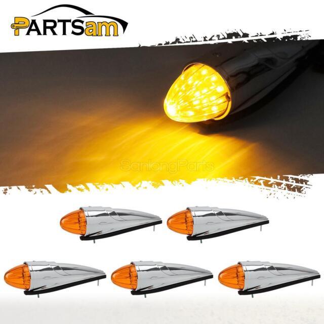 2x16 Amber LED Motorcycle Dirt Bullet Blinker Turn Signals Indicator Light Black