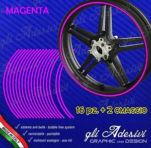 Adhesive-Strips-Tape-Wheel-Motorcycle-Magenta-6-mm-Wheels-17-15-14-13-Inches