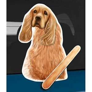 Cocker Spaniel Dog Rear Car Window Sticker + Wagging Tail To Fit On Wiper Arm