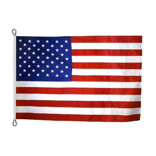 12x18 FT US American Flag Annin Nyl-Glo Nylon Flag Sewn  6 Rows of Stitching