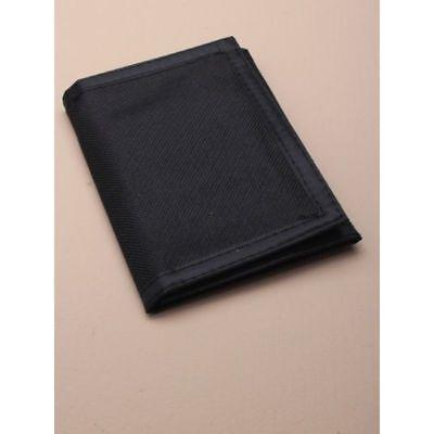 . Semplice Nero Ripper Portafoglio Soldi Portamonete Zip Tasca Velcro Porta Carte Di Credito, Il Venditore Regno Unito-mostra Il Titolo Originale
