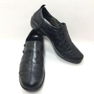 256302edb062c Romika Women's Size EU 40 US 9.5 Black Leather Slip On Loafers Flats ...