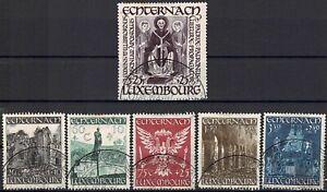 Lussemburgo LUXEMBOURG 1947 Santo Willibrord abbazia di Echternach frase timbrato