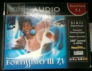 Hercules Gamesurround Fortissimo III 7.1 Scheda audio