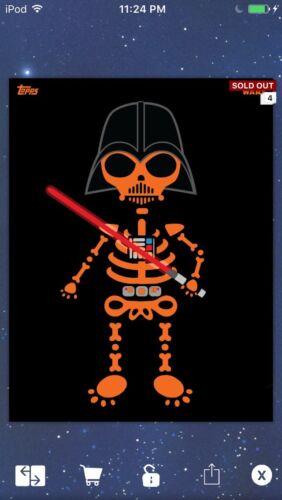 Topps Star Wars Digital Card Trader Orange Halloween 1 Variant Insert Award