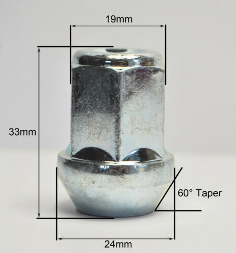 """Lot de 20 x 7//16/"""" unf argent 19mm hex alliage écrous de roue"""