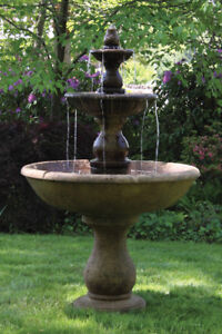 Gentil Image Is Loading Three Tier Boca Round Fountain Outdoor Concrete Garden
