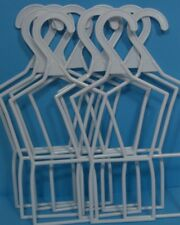 """10 Heart BLUE WHITE Clothes Hangers For 14/"""" AG Wellie Wishers Girl Doll Debs"""