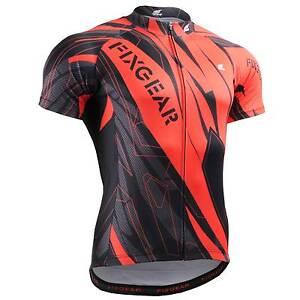 FIXGEAR CS-1502 Men/'s Short Sleeve Cycling Jersey Bicycle Apparel Roadbike MTB