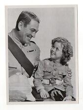 Shirley Temple 1937 Union Dresden Film Star Series 6 5 X 7 Cigarette Photo Card