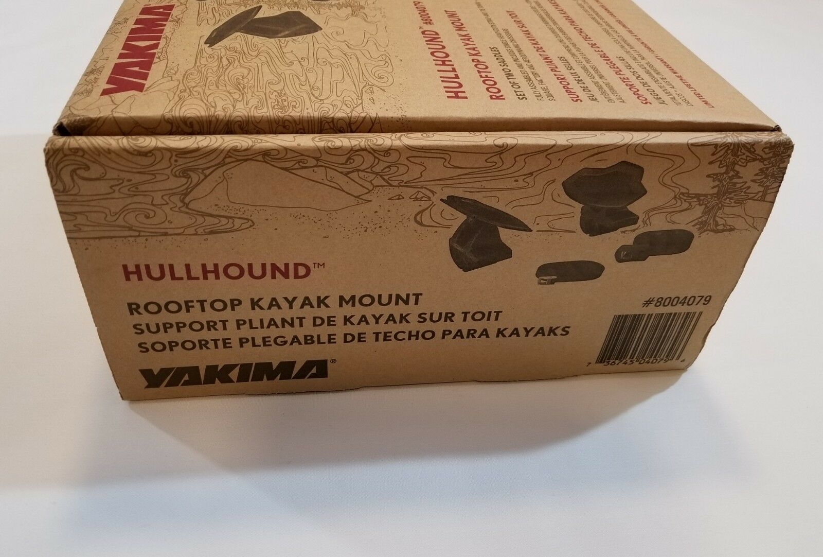 Yakima HullHound Rooftop Kayak Mount Two Sets of Saddles, New with Box