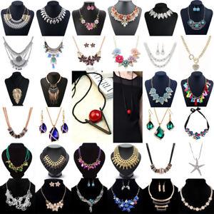 Charm-Women-Jewelry-Pendant-Choker-Chunky-Statement-Chain-Bib-Necklace-Fashion