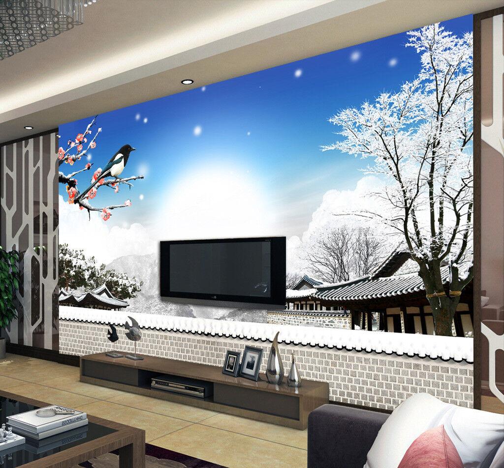 3D Sun Bird Pavilion 8 Wall Paper Murals Wall Print Wall Wallpaper Mural AU Kyra