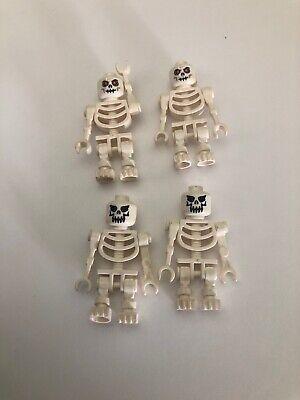 LEGO LOT OF 4 SKELETON MINIFIGURES CASTLE DEAD KNIGHT FIGURES