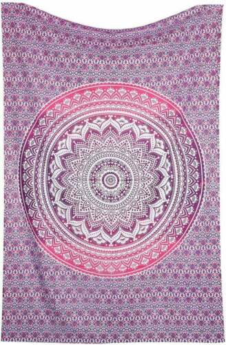 Details about  /Tapestry Wall Hanging Mandala Tapestries Pink Ombre Bedspread Bed sheet Blanket