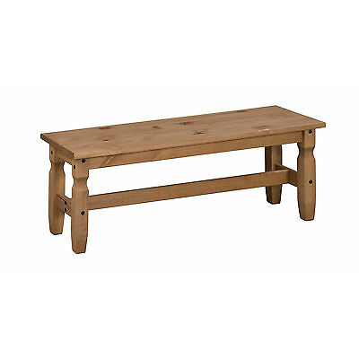 """Corona 4'0"""" Dining Bench Mexican Solid Pine Long Seat by Mercers Furniture®"""