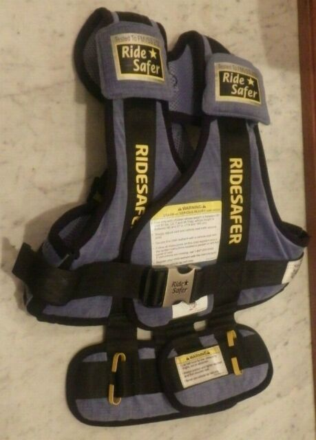 Ride Safer Delight Travel Vest Includes Tether and Neck Pillow Small Yellow