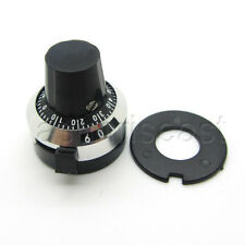 3590s Potentiometer Pot Dial Knob Lockable Hat 635mm Hole Multi Turn 10 Turns