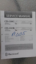 sherwood cd-1180c 1182r service manual repair schematic cd player compact disc