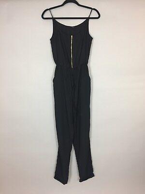Adattabile Women's Dee V By Diana Vickers Nero Jump Suit Con Tasche Laterali. Uk 8-mostra Il Titolo Originale Bianchezza Pura
