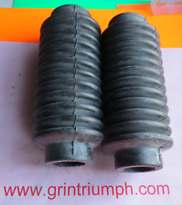 new TRIUMPH T20 T140 TR7 FORK GAITERS black rubber motorcycle gaitors 97-1510