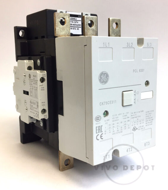 ge contactor wiring 460v 3 phase general electric contactor 3 pole 460v 110 127v ck75ce311j new  general electric contactor 3 pole 460v