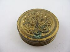 """Rare Collectible Round Avon Products Inc. Makeup Box Mirrored Lid """"Target Red"""""""