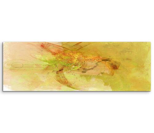 Leinwandbild Panorama orange braun grün beige Paul Sinus Abstrakt/_768/_150x50cm