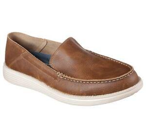 Zapatos De Holgado Marrón Diario Corte breson Hombre En Status Skechers gnTfPpqT