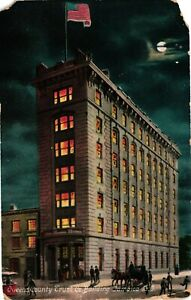 Vintage Postcard - 1907 Queens Trust Building Long Island New York NY #4312
