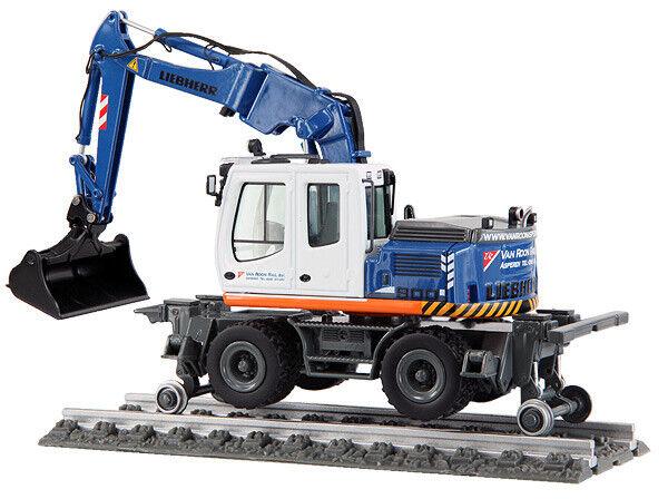 NZG 803-04 Van Roon Rail Liebherr A900C ZW Rail Road Excavator 1 50 Die-cast MIB
