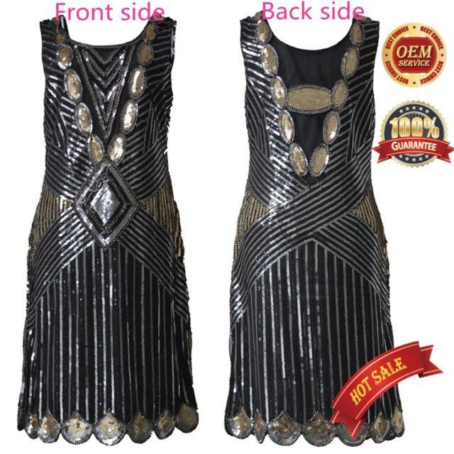 Flapper Fringe Dress Vintage Charleston Costume Gatsby 20's Ladies Fancy Dresses