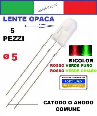 N 10 LED TONDO D=3 mm BICOLORE rosso//verde Catodo Comune