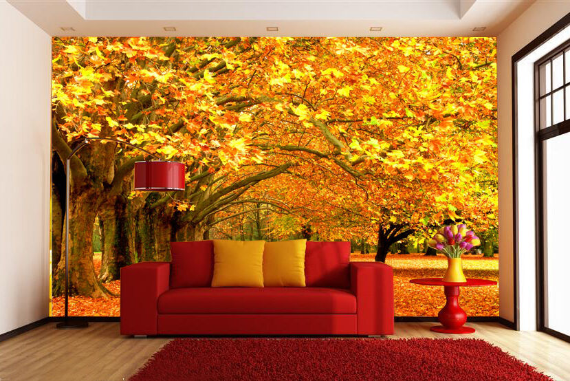 3D Autumn View tree 1173 Paper Wall Print Decal Wall Wall Murals AJ WALLPAPER GB