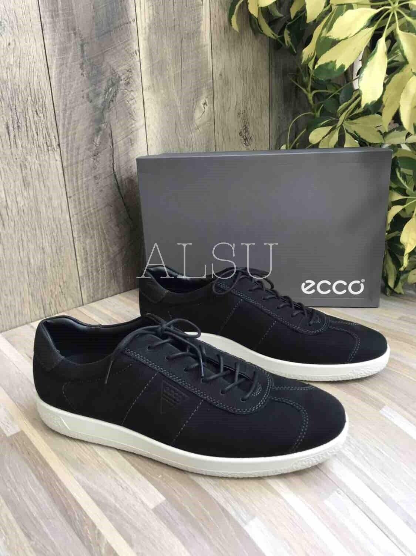 Zapatillas de Moda Para Hombre Negra Corbata De De De Gamuza Suave 1 ECCO 72d4d5