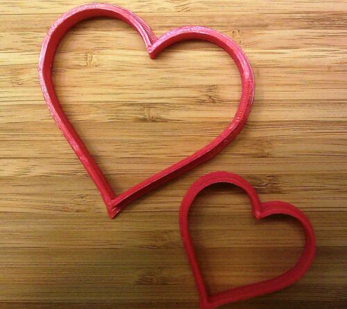 Valentine Choice of Sizes Heart Cookie Cutter and Free Heart Coffee Stencil