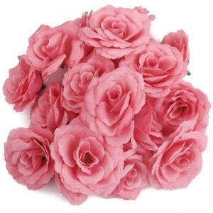 1-Packung-20-Stueck-Rose-Kopf-Kuenstliche-Blumen-Kopf-Hochzeit-DIY-O3U3
