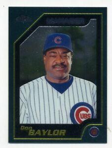 2001-Topps-Chrome-DON-BAYLOR-Rare-MANAGER-BASEBALL-CARD-260-Chicago-Cubs