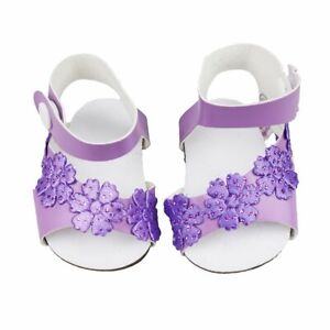 Cute-Purple-Granular-Shoes-For-18-Inch-American-Girl-Doll-Doll-Accessories-HT