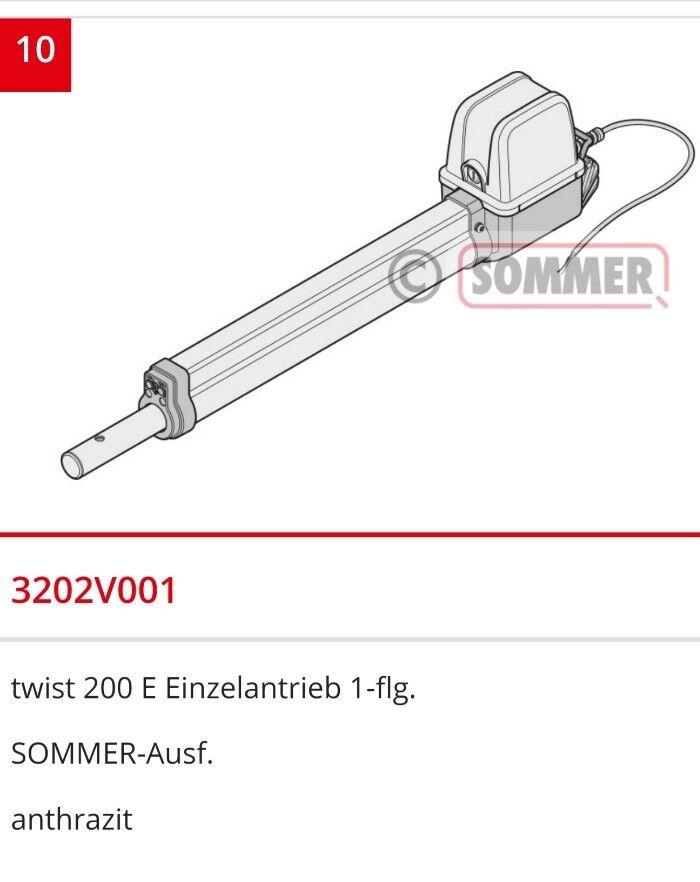 Antrieb Ersatzteil Sommer Twist 200 E Torantrieb Neu vom Grünragskundendienst